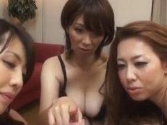 Horny Japanese girl Misa Yuuki, Yumi Kazama, Chisato Shouda in Hottest Blowjob/Fera JAV clip