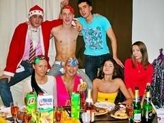 Student sex friends celebrate X-mas