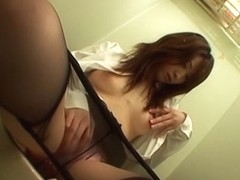 Amazing Japanese girl in Hottest JAV uncensored Stockings clip