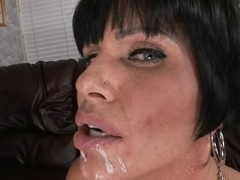 Black haired married milf  fucked and facialized
