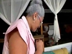 Old Lady loves Big Black Cock
