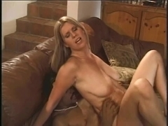Golden-Haired mother I'd like to fuck has her vagina boned and creamed by dark boy-friend