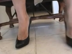 cum on darksome highheel pumps