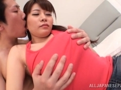 Kurumi Kokoro nasty asian babe has huge tits licked