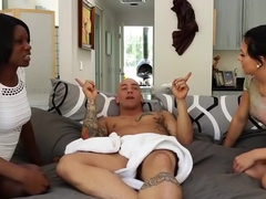 Horny pornstars Kay Love and Mia Pearl in exotic brunette, tattoos adult clip