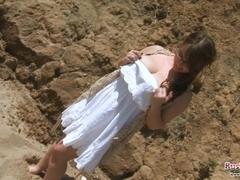 Gina G Beach & Boobs Fun
