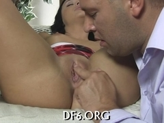 Her finger fits her pussy