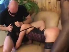 Crazy Sexy White Slut Takes Two Big Cocks 420
