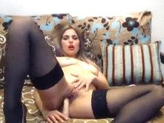 Babe Ninelsweet in black stockings