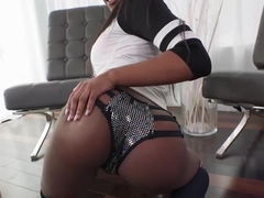 Amazing ebony chick Lexi Rose getting her pussy pounded hard