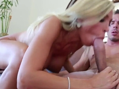 Big boobed blondie Evita Pozzi is fucking on tape