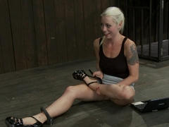 Lorelei is put on a Sybian, quadruple-zippered and made to cum so much she begs for it to stop.