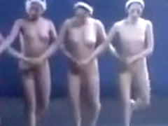 Beautiful nude ballet girls dance wonderfully