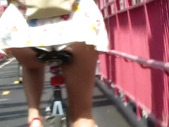 Biking after a hot ass in front of me