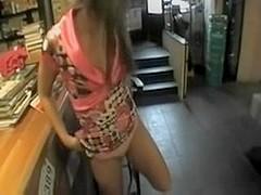 Amateur teen fuck ass in the bar