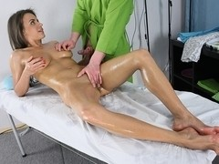Boobs massage video with a tanned cutie
