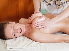 Oiled body of sweet girl nastily fucked