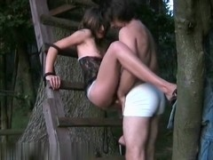 Outdoor amateur sex in the woods