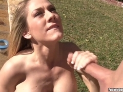 Great Cook Jerking And Cum On An Outdoor Tub