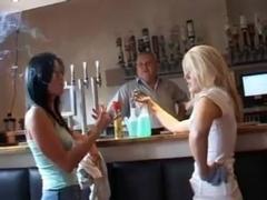 Lolly and Lara at the bar