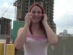 Incredible pornstar in horny redhead, outdoor porn movie
