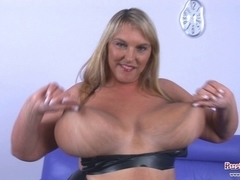 Large Bra Buddies Carol Brown Latex Enjoyment