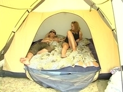 2 studs double fuck cute college angel in the tent