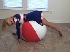 Haley Cheerleader Big Beachball Burst