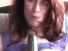 Hawt Breasty Older Experience Mamma Uses Cucumber To Satisfy