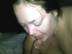 Bbw wants that cockjuice really bad on her big tits. she sucks the sperm out !!!