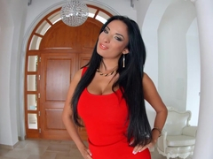 Black haired bombshell Anissa Kate with huge boobs on Primecups