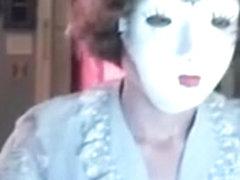 Fetish fun striptease with mask!