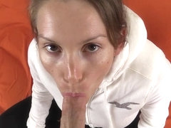 POV Hoodie Blowjob Sex Cumshot