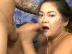 Giant tits chick extreme face fucking