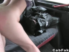 Busty plumper fucks in fake taxi