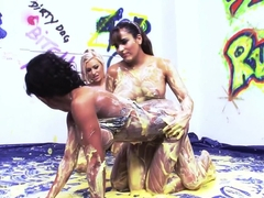 Fabulous pornstars Charlie Monaco, Eva May and Alyson Mckenzie in crazy fetish, big tits sex clip