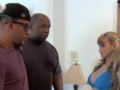 Nice interracial porn video with busty beauty Scarlett Monroe