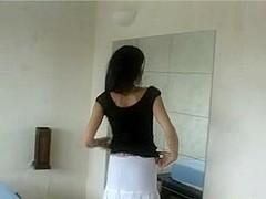 Skinny black hairy girl anal
