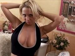 Hot blonde sex in office