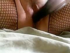BBW Masturbates meaty cunt with hands dildo's and vibrator