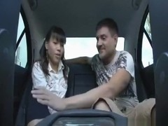 Asian streetgirl and a usa customer oral and cowgirl sex ends with a facial cumshot in his car
