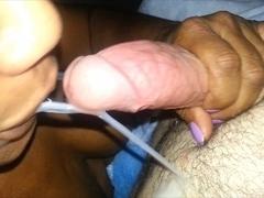 Oral, tugjob, cum in throat
