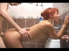 Sex Scene Cute Russian Redhead in the Bath
