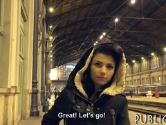 Amateur brunette Eurobabe pussy nailed in exchange for money