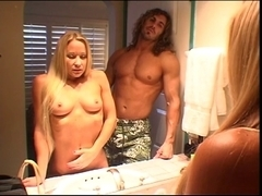 Golden-Haired with a worthy ass group-fucked hard