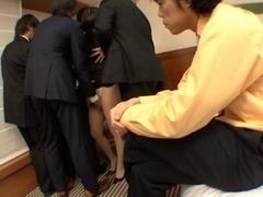 Hikaru Yuki Japanese model has bukkake sex
