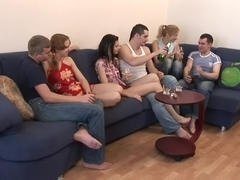 Elma & Katrin & Tigra in blonde getting her fucked after college sex party