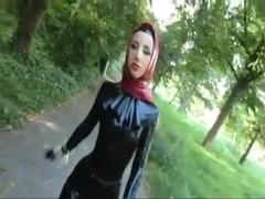 Muslima in hot latex