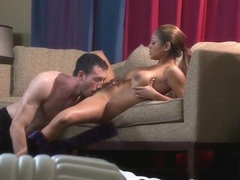 Sexy lady with amazing tanned skin gets my dick into her holes