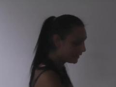 Two pretty teens - Jocelyn and her boyfriend film amateur scene